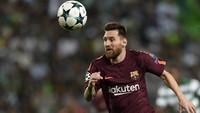3. Lionel Messi telah mengemas 11 gol dalam tujuh laga La Liga bersama Barcelona (630 menit). Messi rata-rata mencetak satu gol tiap 57 menit. Foto: Octavio Passos/Getty Images