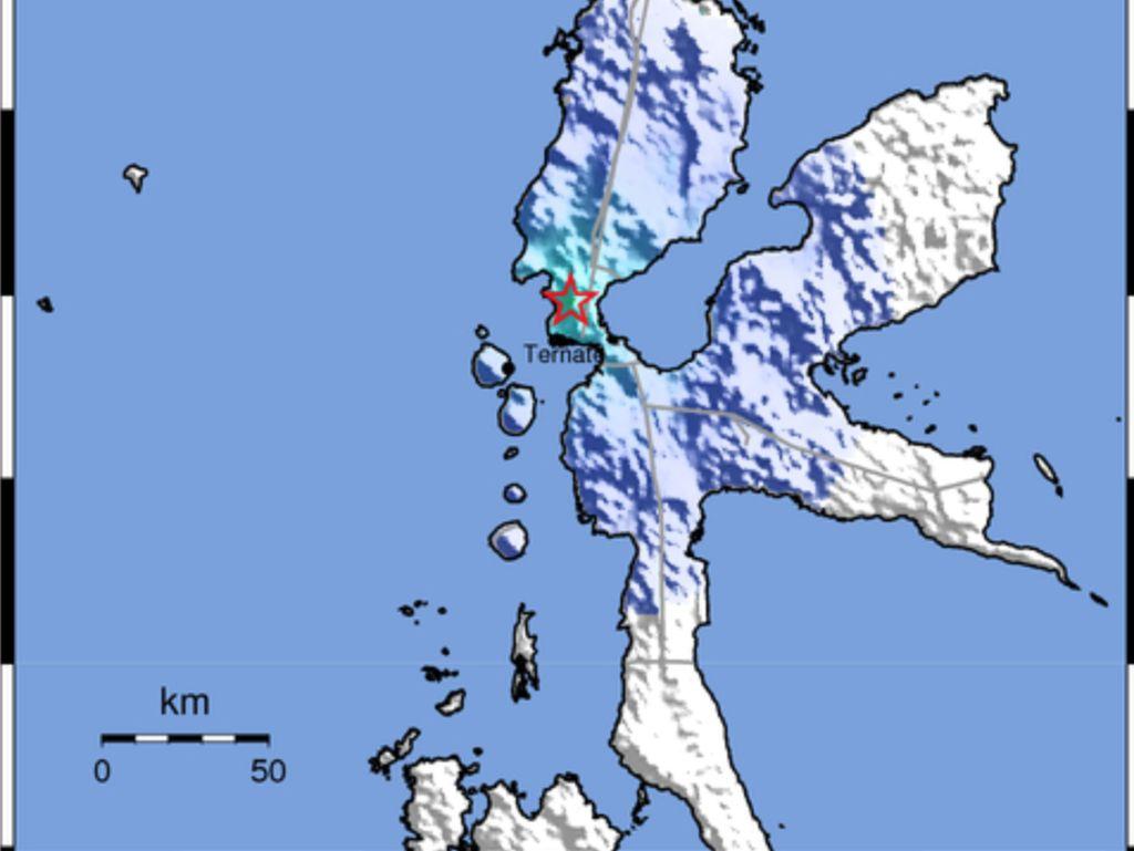 Gempa 4,4 SR Guncang Tidore Maluku