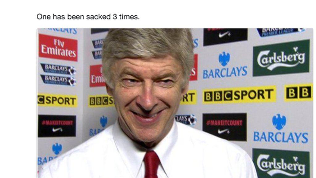 Meme Kocak Ancelotti Dipecat Merembet ke Arsene Wenger