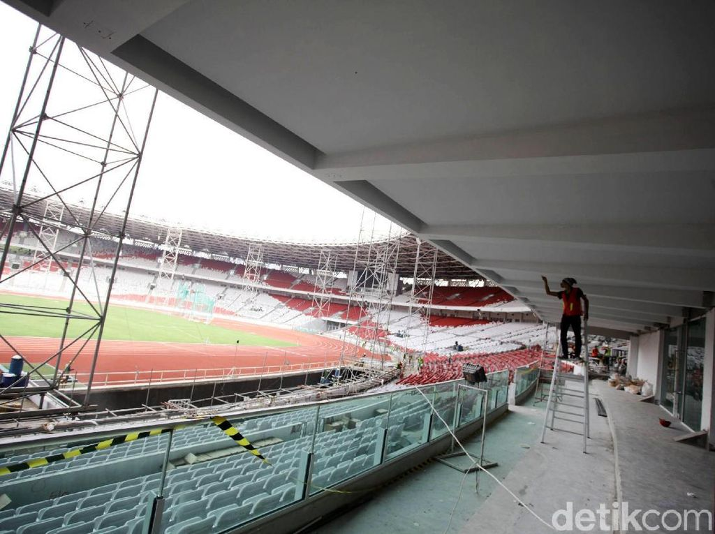 Dikejar Asian Games 2018, Begini Penampakan Terkini Stadion Utama GBK