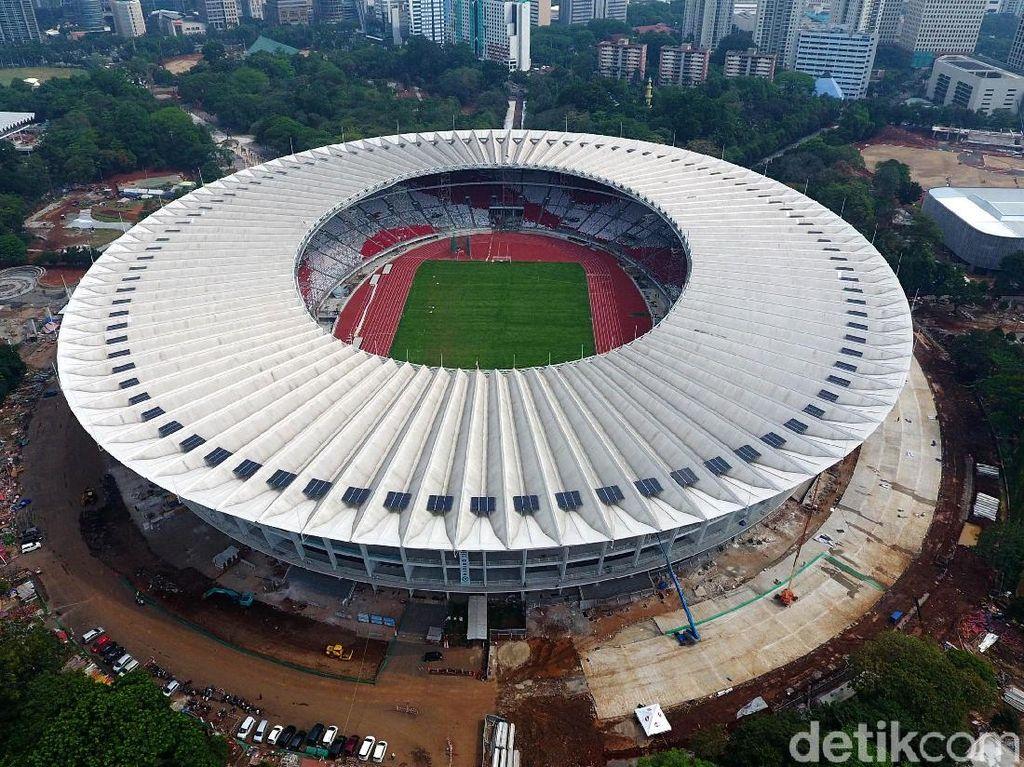 Foto: Penampakan Stadion Utama GBK dari Udara