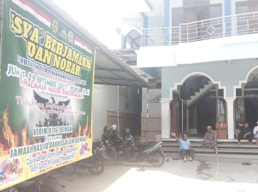 Nobar Film G30S/PKI di Masjid Darussalam Demak, 600 Undangan Disebar