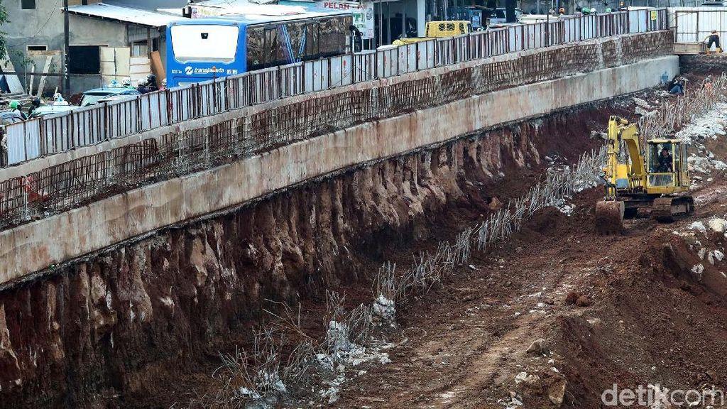 Kondisi Terkini Pembangunan Underpass Mampang-Kuningan