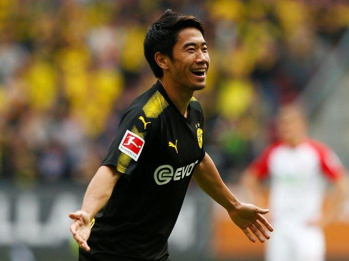 Shinji Kagawa, pemain Jepang tertajam di Bundesliga dalam sejarah. Foto: Michaela Rehle/Reuters
