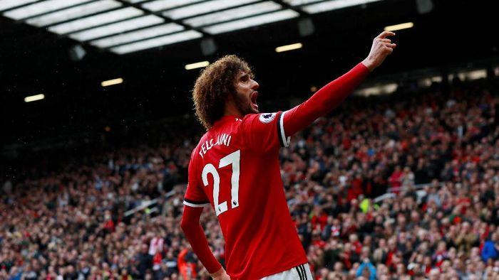 Pemain Manchester United, Marouane Fellaini (Foto: Jason Cairnduff/Reuters)