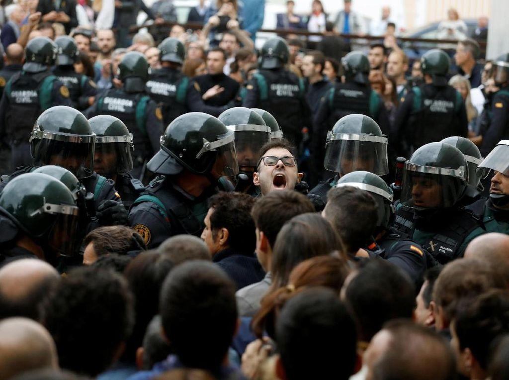 Demonstrasi Pro-Catalan yang Berujung Bentrokan