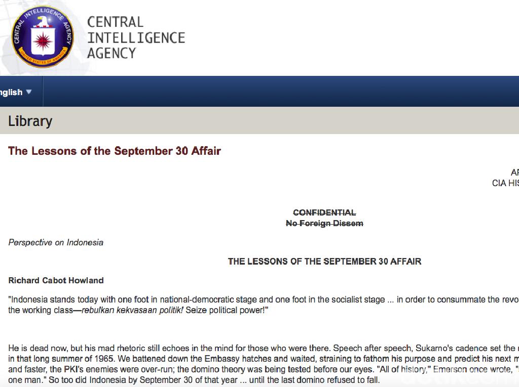 G30S/PKI Jadi Evaluasi CIA untuk Lawan Komunis di Vietnam