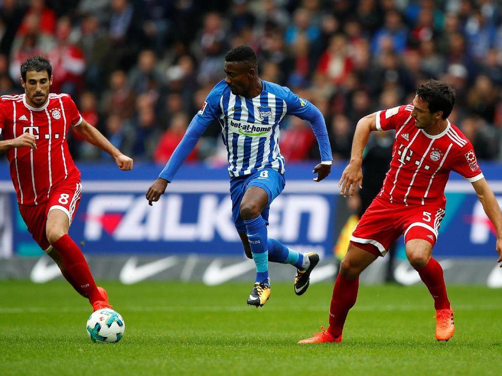 Buang Keunggulan Dua Gol, Bayern Diimbangi Hertha 2-2