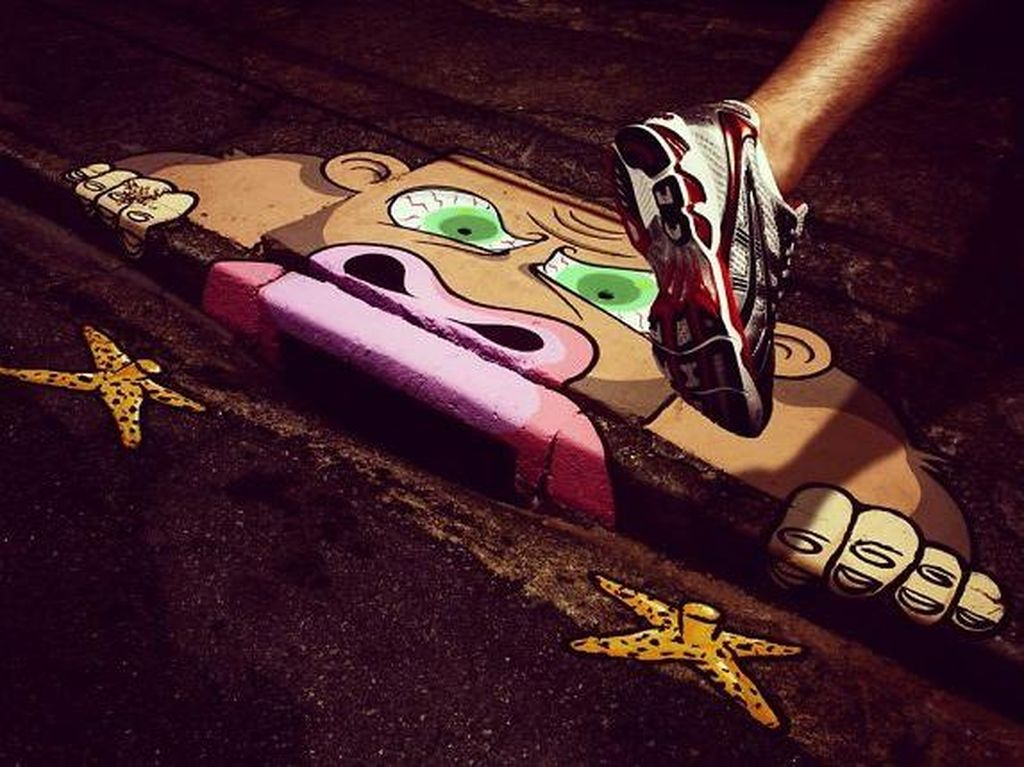 Foto: Mural Lucu di Jalanan Brasil