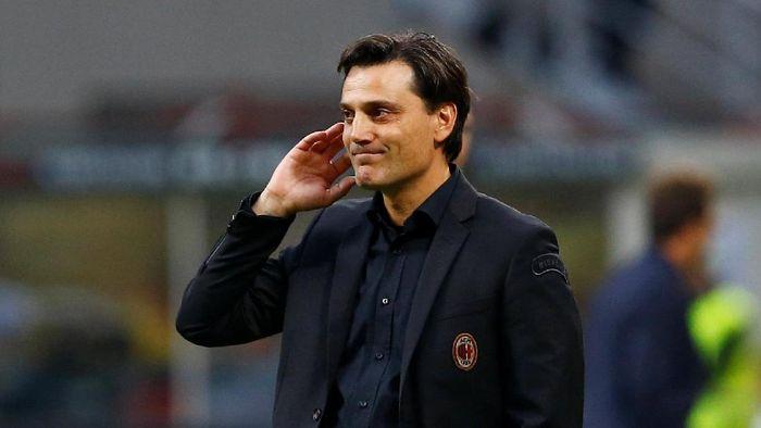 Pelatih AC Milan, Vincenzo Montella (Foto: Stefano Rellandini/ Reuters)