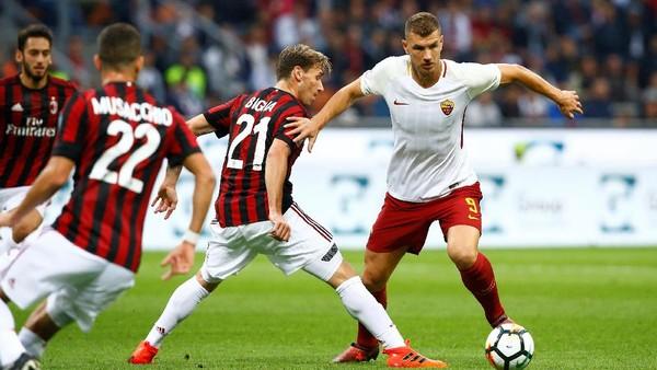 Roma Taklukkan Milan 2-0 di San Siro