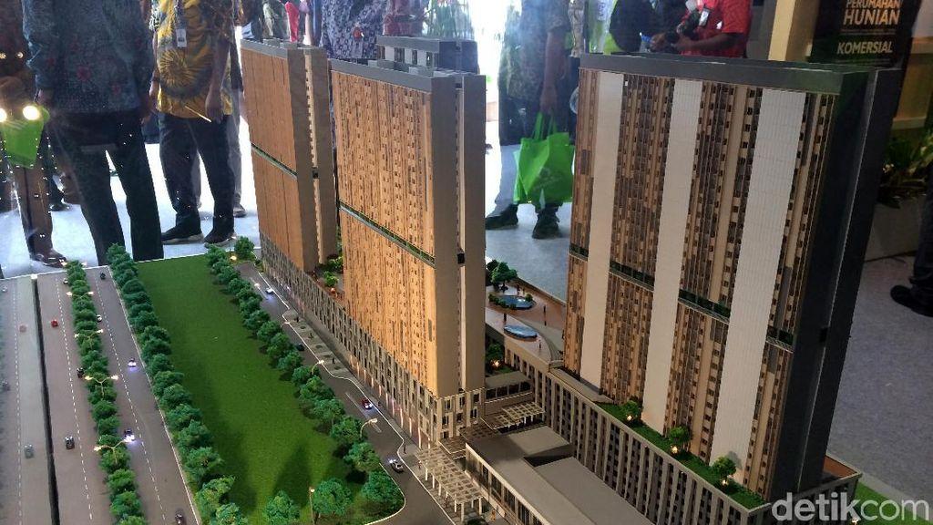 Proyek Rusunami di Stasiun Pondok Cina Diresmikan