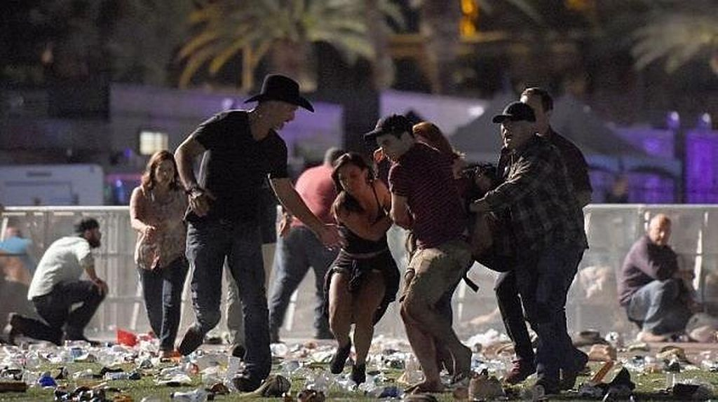 Suasana Menegangkan Saat Penembakan Dekat Kasino Las Vegas