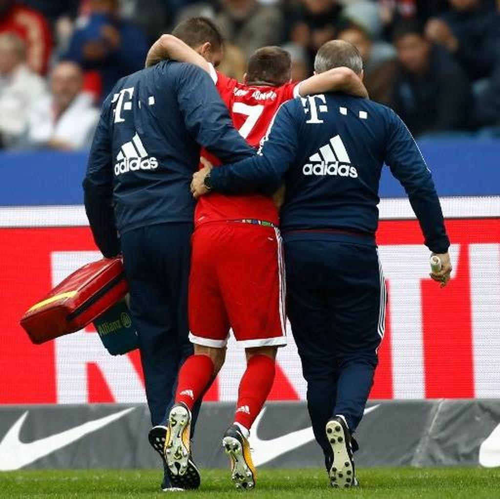 Cedera Lutut, Ribery Terancam Absen Tiga Bulan