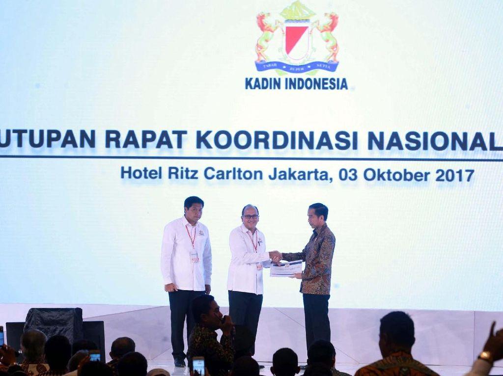 Jokowi Tutup Rakornas Kadin 2017