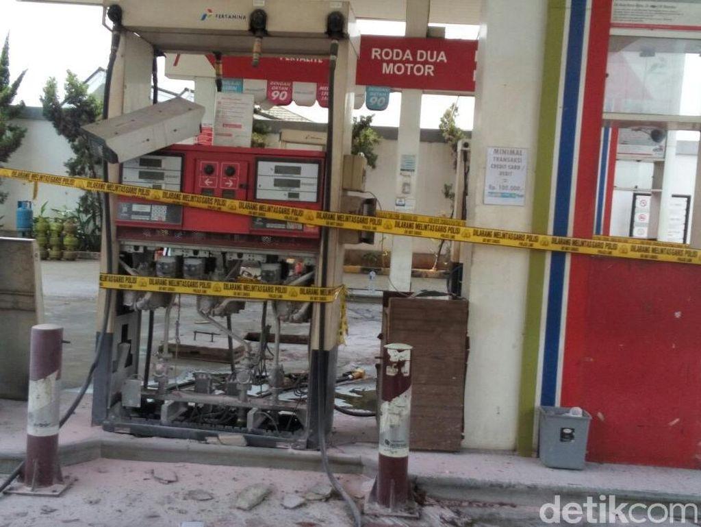 Foto: Penampakan Dispenser SPBU di Kalimalang yang Terbakar