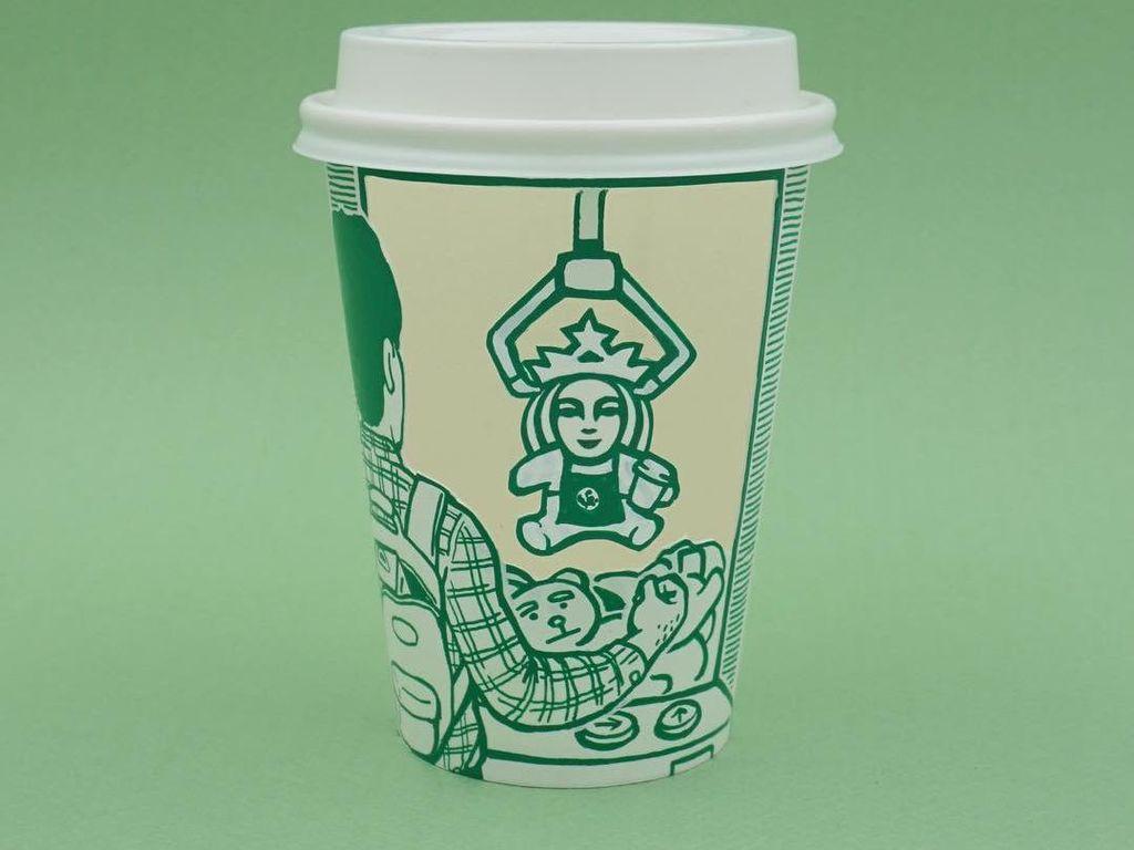 Kreatif! Seniman Ini Ubah Ikon Mermaid Starbucks Jadi Ilustrasi Lucu
