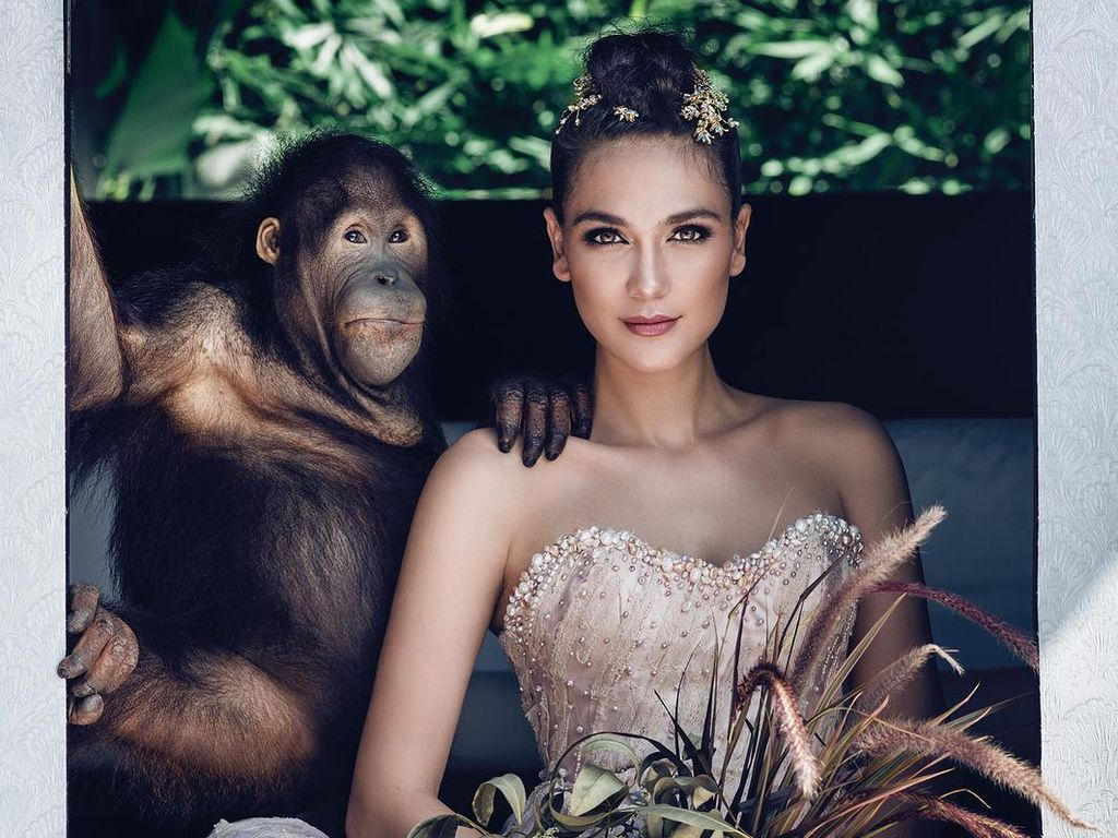 Lakukan Sesi Pemotretan dengan Orangutan, Luna Maya Dikecam
