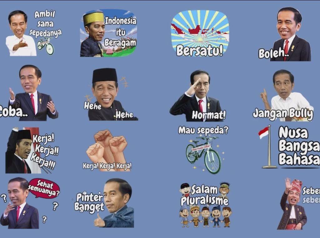 Presiden Jokowi Jadi Stiker Lucu di Line