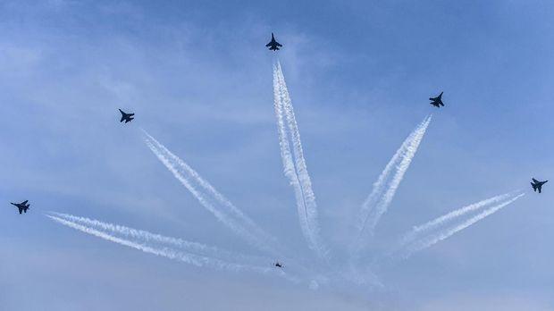 Dalam kondisi pandemi Covid-19, HUT ke-74 TNI AU kini digelar tanpa atraksi pesawat.
