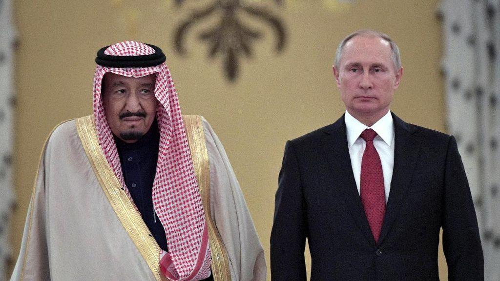 Bertemu Vladimir Putin, Raja Salman Beli Sistem Pertahanan Udara