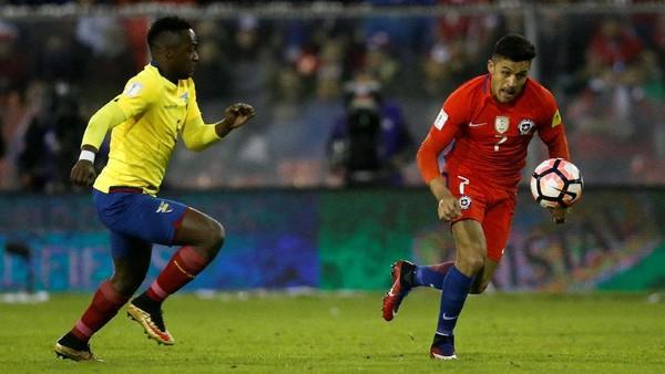 Chile Menang Tipis atas Ekuador