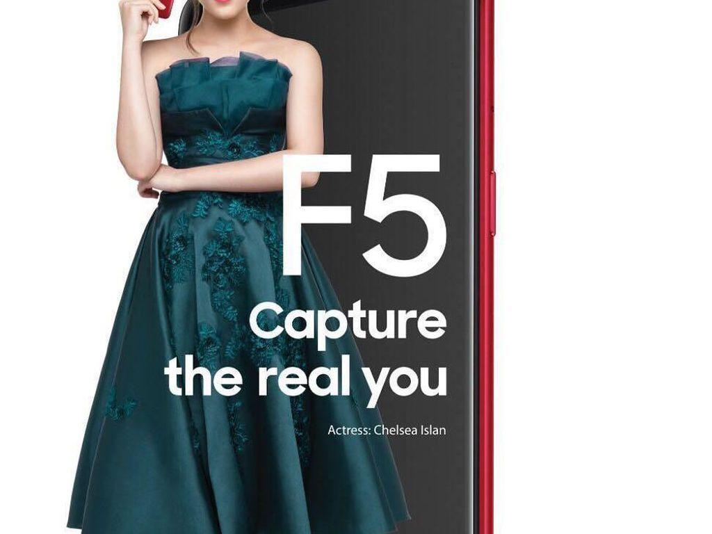 Si Cantik Chelsea Islan dan Oppo F5
