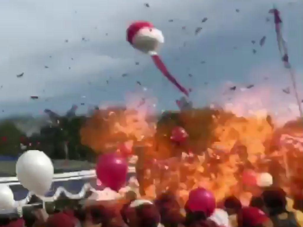 Puluhan Balon Meledak di UMM, 15 Mahasiswa Terluka