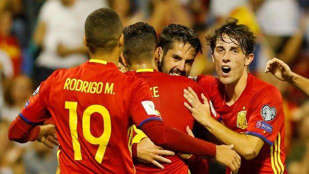 Timnas Spanyol berada satu grup dengan Portugal di Piala Dunia 2018.