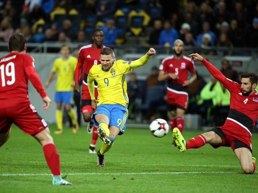 Swedia Gunduli Luksemburg 8-0