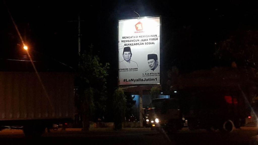 Reklame La Nyalla Bersama Prabowo, Cagub Jatim dari Gerindra?