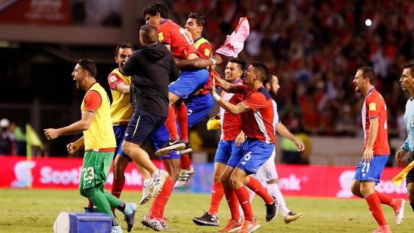Kosta Rika Lolos Dramatis ke Piala Dunia 2018