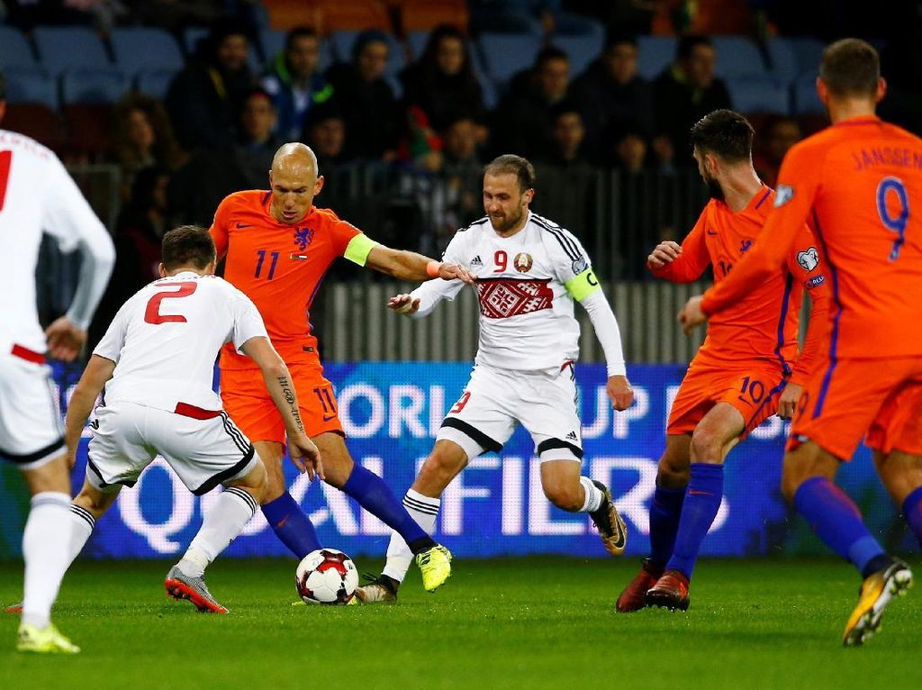 Kalahkan Belarusia 3-1, Belanda di Ujung Tanduk