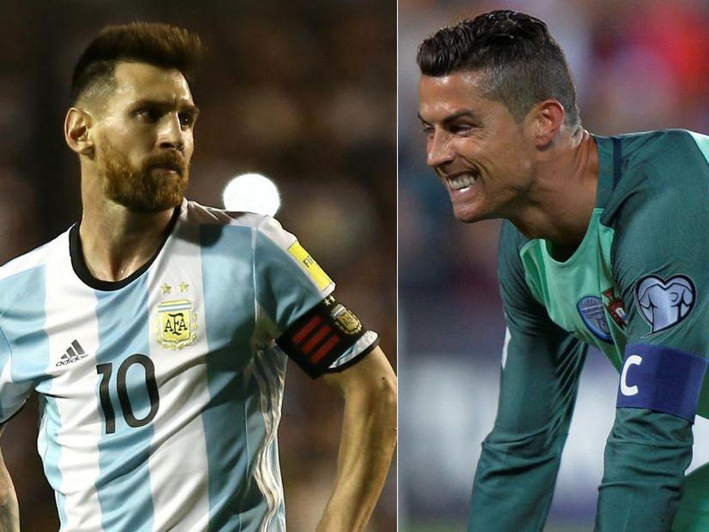 Kompaknya Messi dan Ronaldo di Piala Dunia 2018