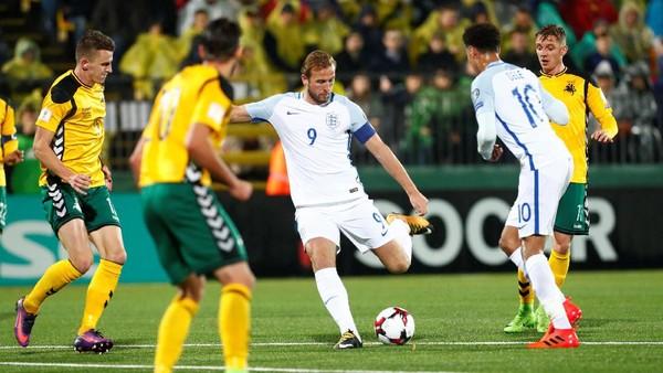 Atasi Lithuania 1-0, Inggris Akhiri Kualifikasi Tanpa Kekalahan