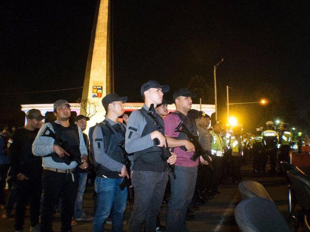 Potret Polisi Kota Bogor Siaga Sampai Dini Hari