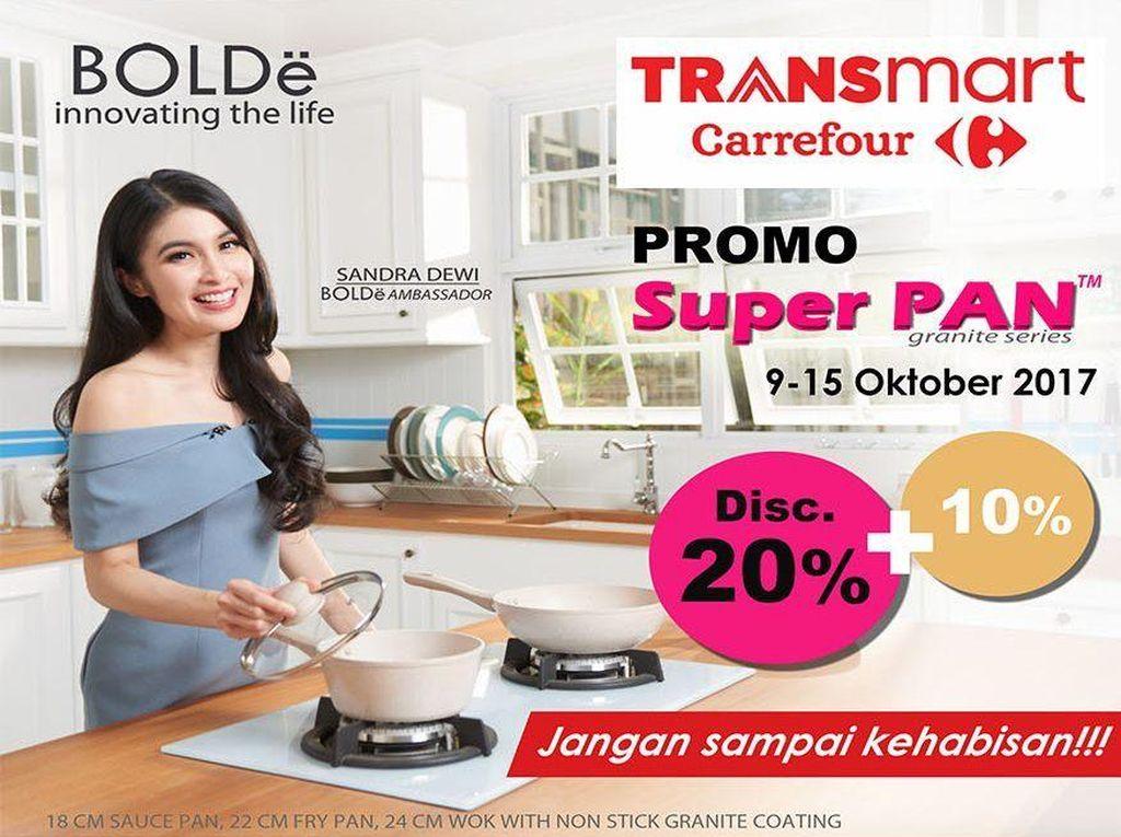 Diskon 10% Peralatan Masak Bolde Super Pan di Transmart Carrefour