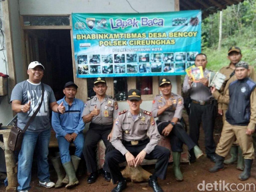 Polisi Sukabumi Kunjungi Karya Sosial Brigadir Dikri