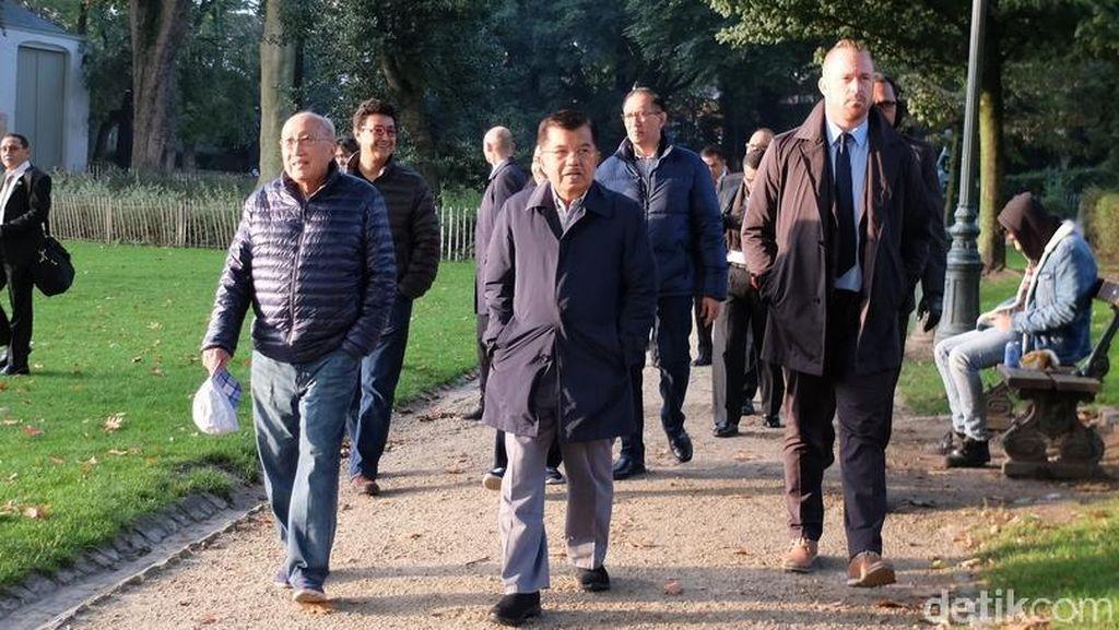 Kunker ke Belgia, JK Tetap Sempatkan Olahraga