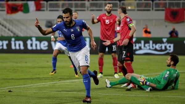 Gol Tunggal Candreva Menangkan Italia atas Albania
