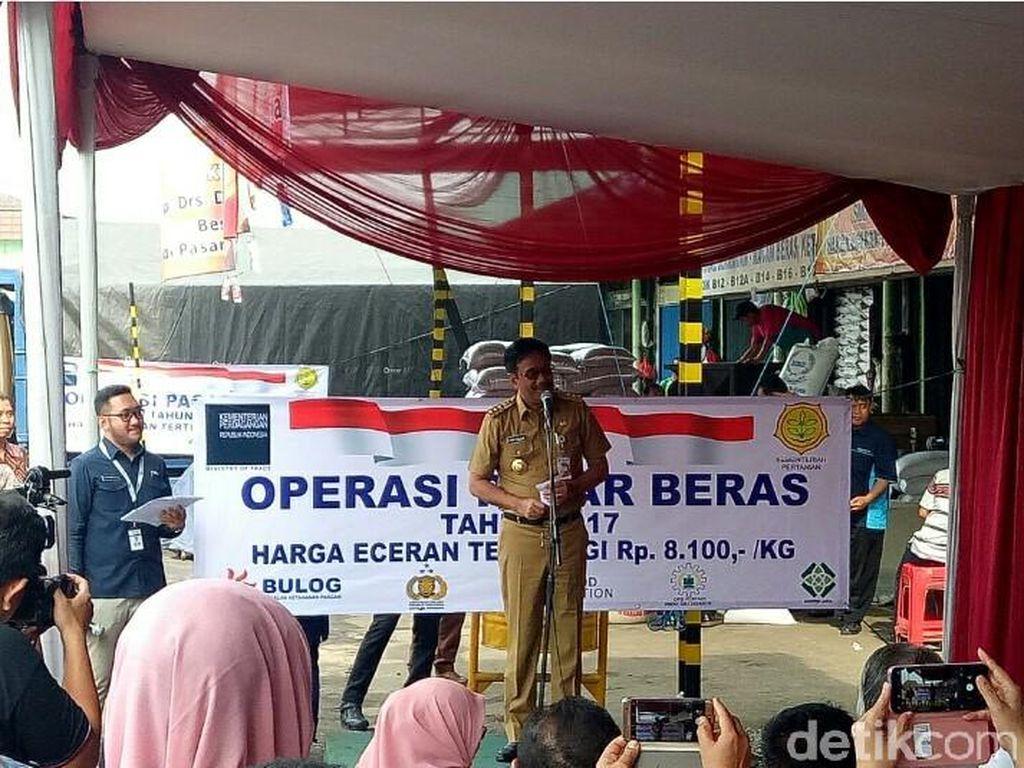 Beras Medium di Operasi Pasar Cipinang Dijual Rp 8.100/Kg