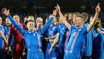Selebrasi Islandia Lolos ke Piala Dunia