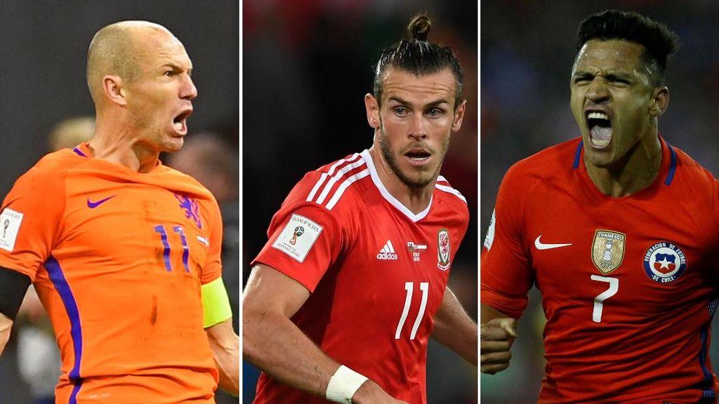 Starting XI Pemain Top yang Absen di Piala Dunia 2018
