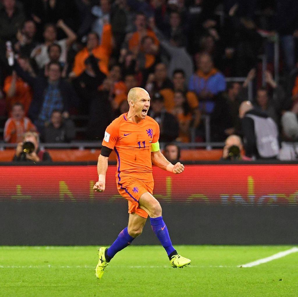 Karier Robben di Timnas Belanda dalam Angka