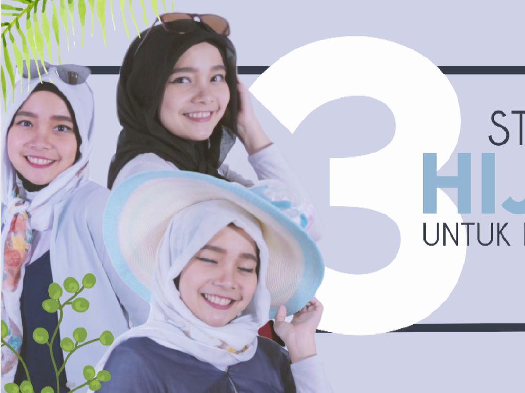 3 Styles Hijab Untuk ke Pantai
