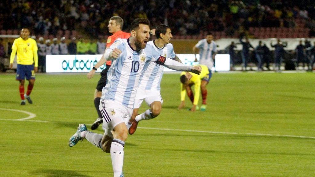 Highlights Hattrick Messi Sang Juru Selamat Argentina