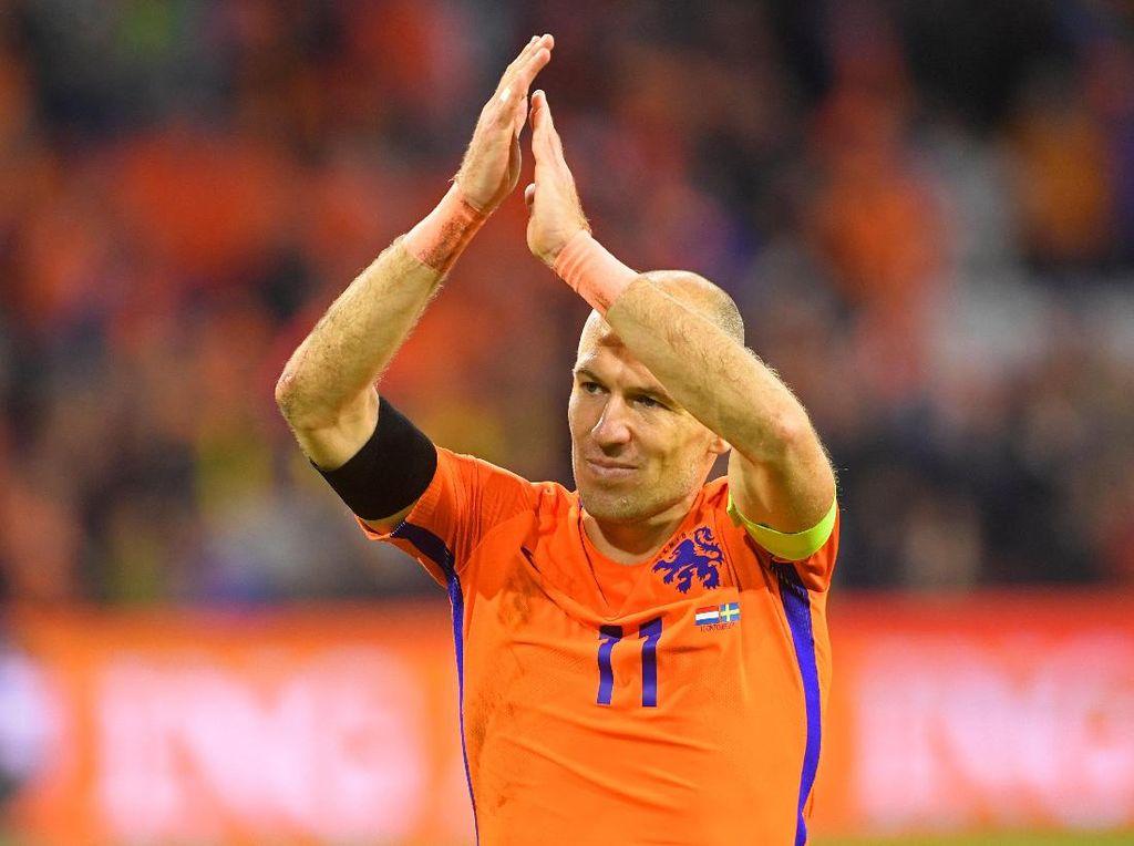Gagal ke Piala Dunia 2018, Robben Pensiun dari Timnas Belanda