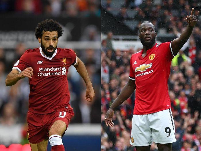 Romelu Lukaku vs Mohamed Salah (Foto: Getty Images)