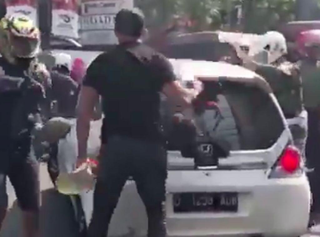 Begini Kondisi Mobil Milik Pelaku Tabrak Lari di Bandung