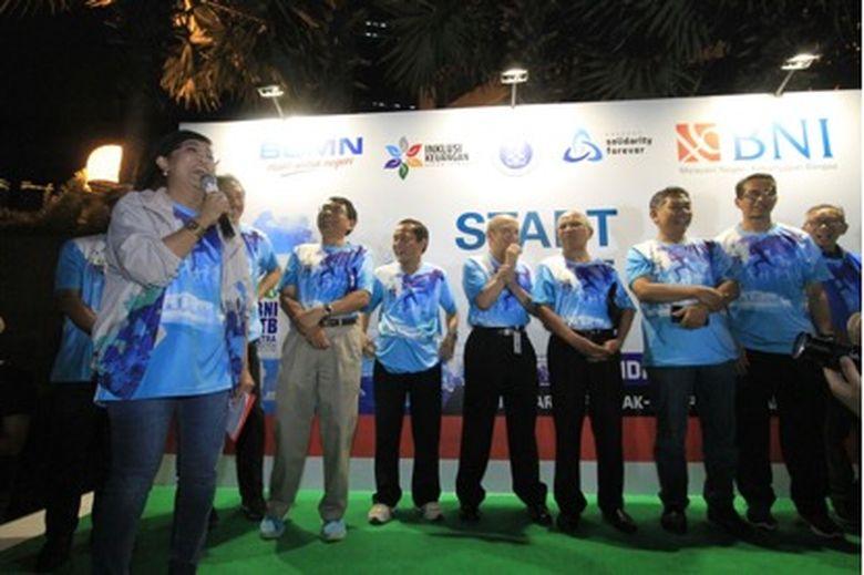 150 Pelari BNI-ITB Ultra Marathon Dilepas dari Kantor BNI